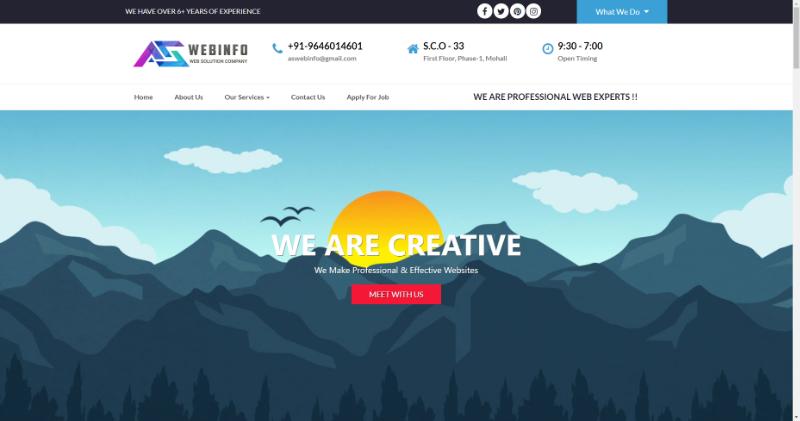 as web info seo company in mohali, india