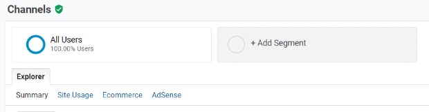 google analytics add segment
