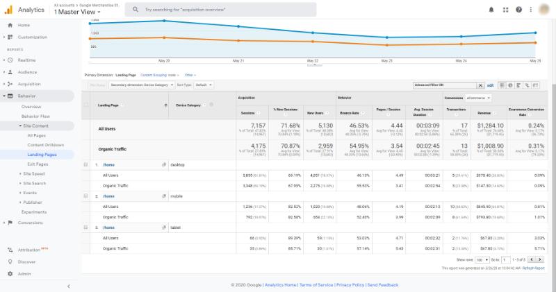 google analytics segment and filter