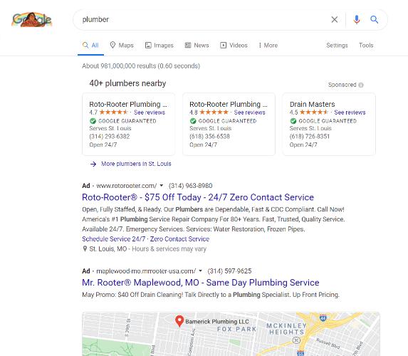 google local search ad desktop
