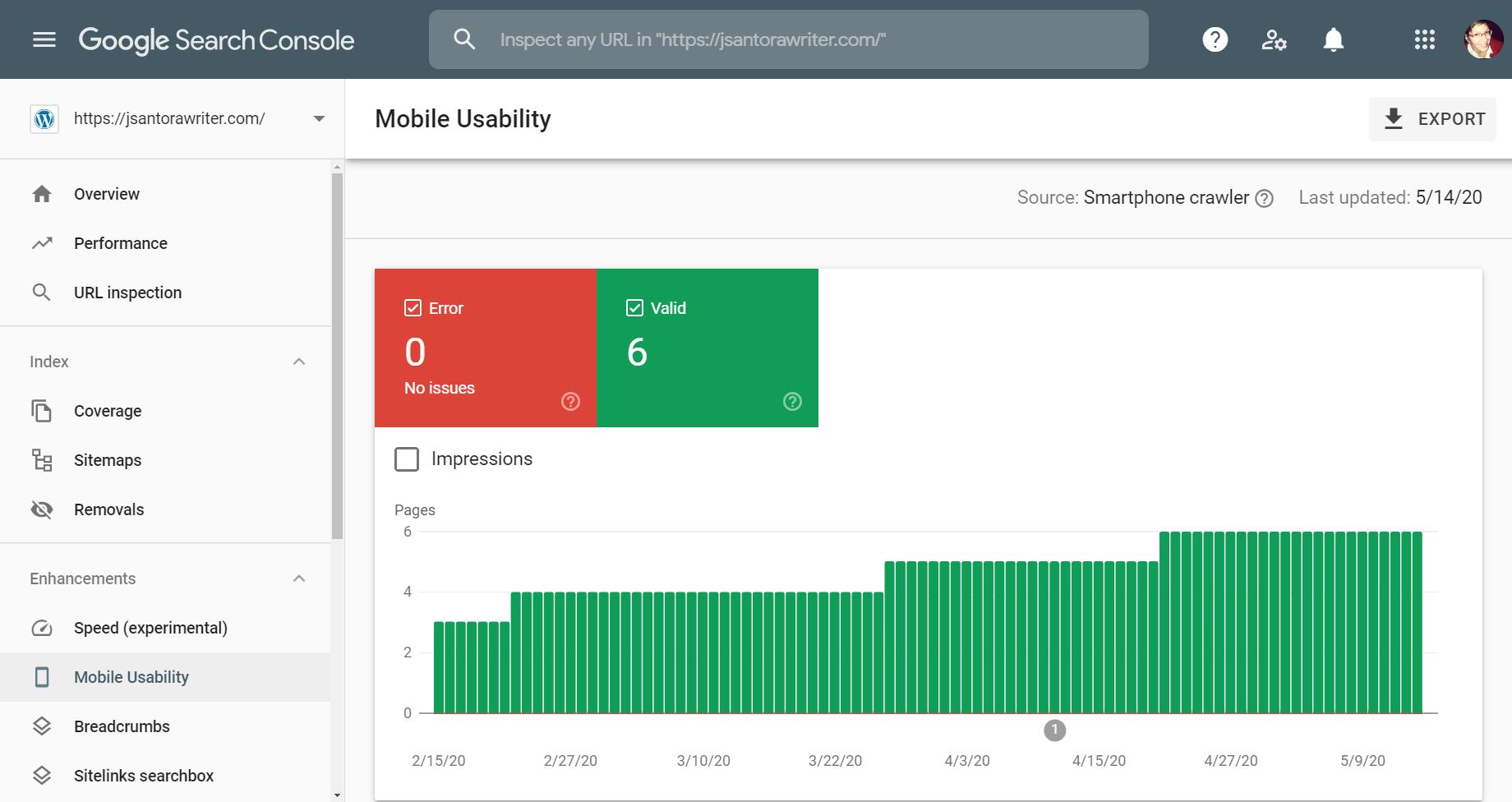 google search console mobile usability