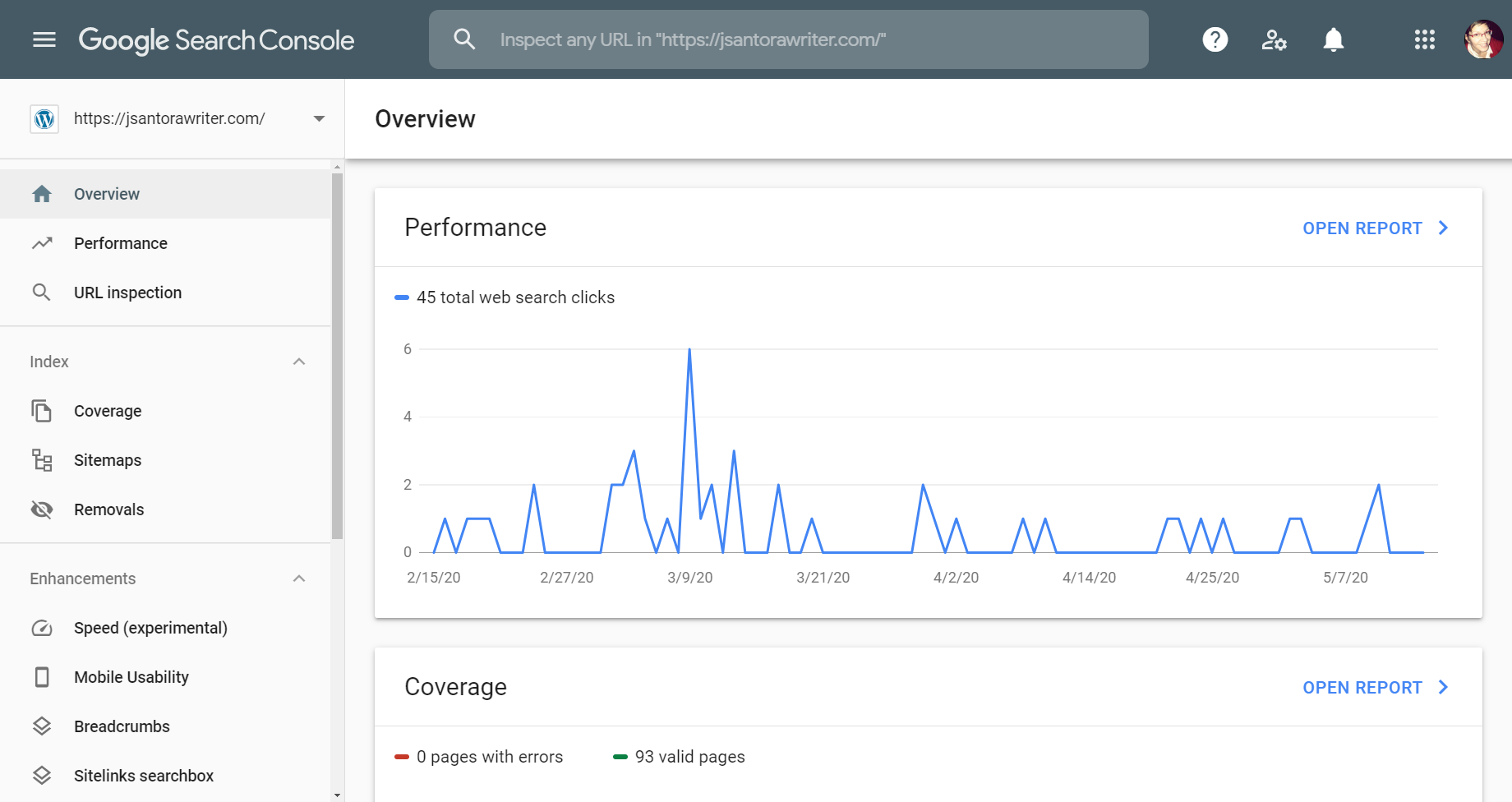 google search console overview