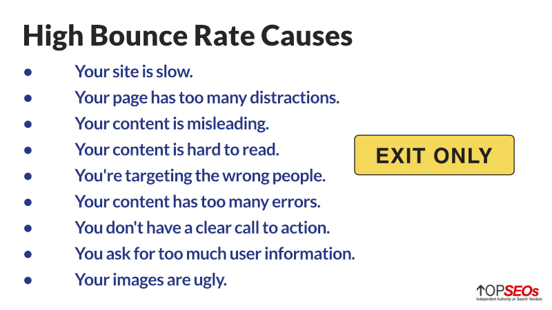 causes of high bounce rates