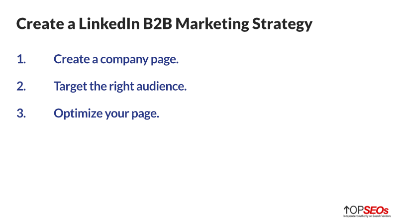how to create a linked in b2b marketing strategy
