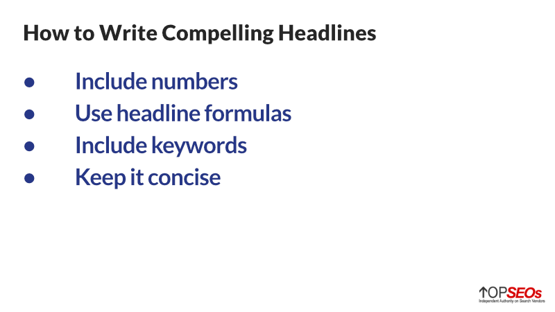 how to write compelling headlines for seo