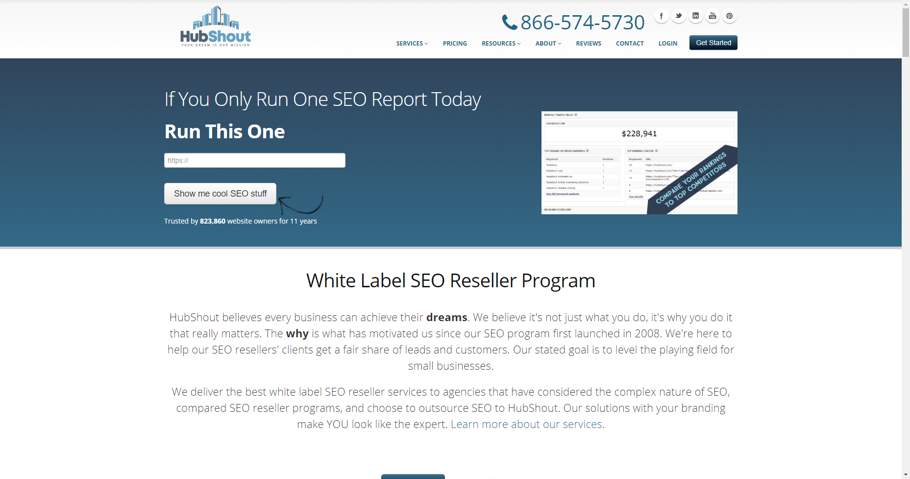 hubshout best white label seo company