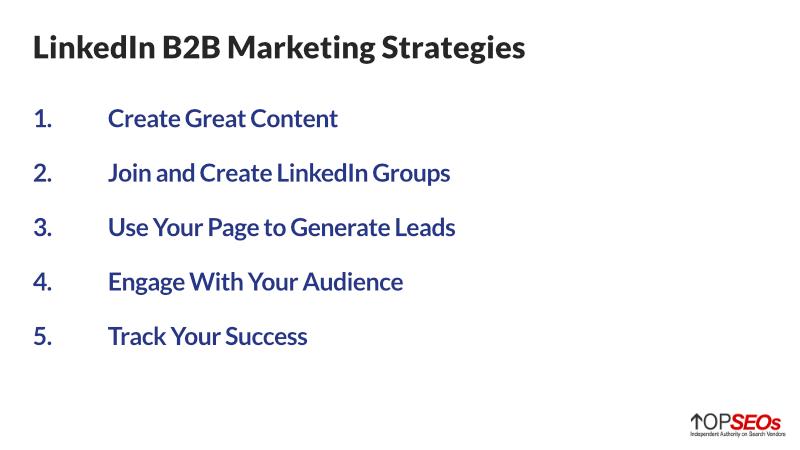linkedin b2b marketing strategy best practices