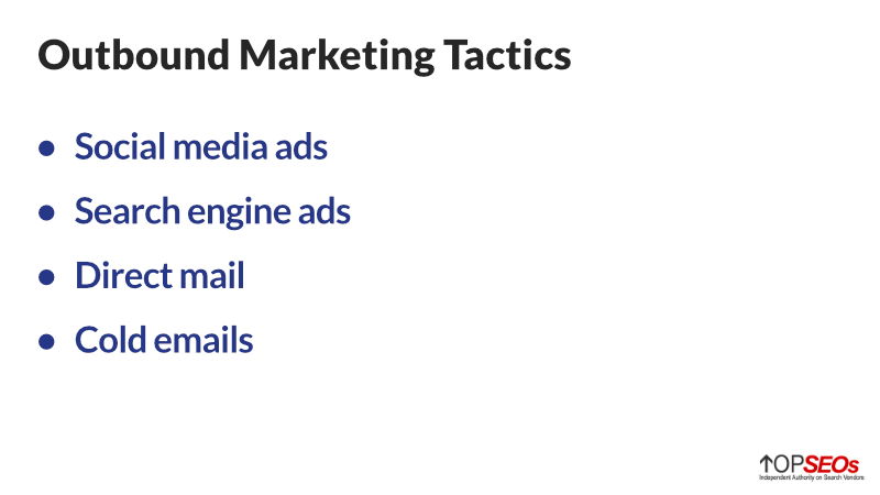 outbound marketing tactics
