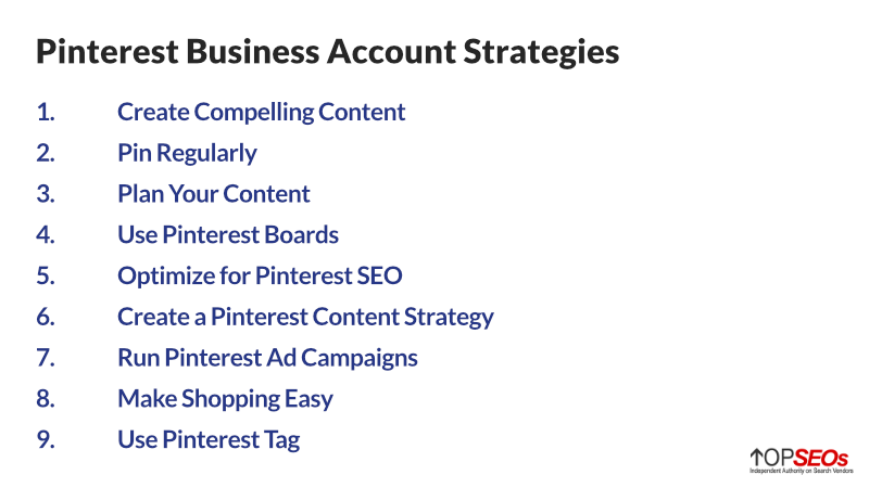 pinterest business account strategies