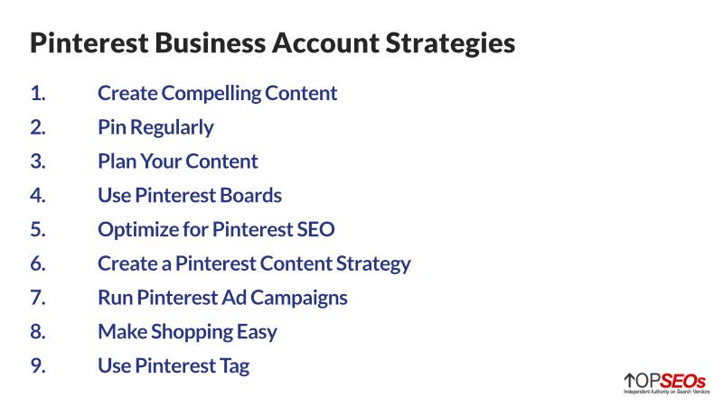 pinterest business account strategies