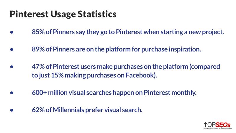 pinterest usage statistics