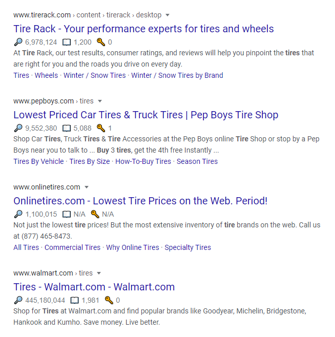 search intent buy results