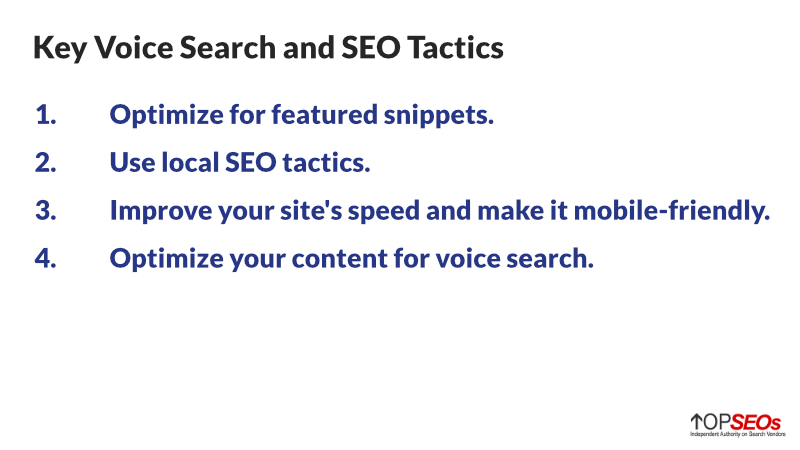 voice search and seo tactics